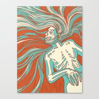 Skeleton Girl Canvas Print