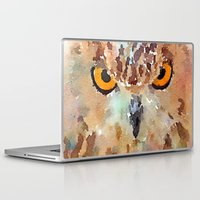 owl Laptop & iPad Skins featuring Owl by contemporary