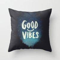 GOOD VIBES V.2 Throw Pillow