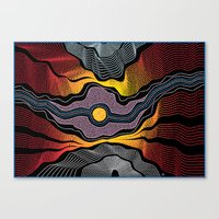 Modern Aboriginal 5 Canvas Print