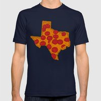 Everything's Bigger... Mens Fitted Tee Navy SMALL