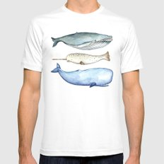 S'whale SMALL Mens Fitted Tee White