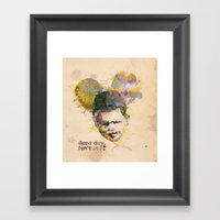 Micky kid. Framed Art Print