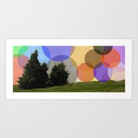 Lonely Mountain Colour Art Print