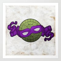 The Purple Turtle Art Print