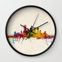 Pittsburgh Pennsylvania Skyline Wall Clock