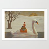The White River Art Print