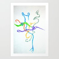 Randomness Art Print