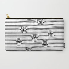 PEEPING TOM [BLK & WHT] Carry-All Pouch