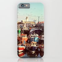 Boats resting in the Harbour iPhone 6 Slim Case
