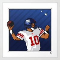 Eli - the SuperBowl MVP Art Print