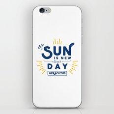 Heraclitus - The sun is new each day iPhone & iPod Skin
