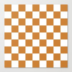Checker (Bronze/White) Canvas Print