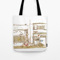 Two Buildings Tote Bag