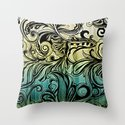Swirl and Curl Throw Pillow