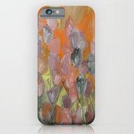 Flower Garden At Sunset iPhone 6 Slim Case