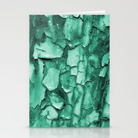 Flakey - Teal Stationery Cards