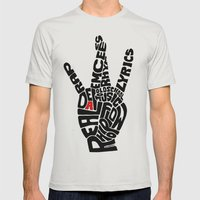 Real D Mens Fitted Tee Silver SMALL
