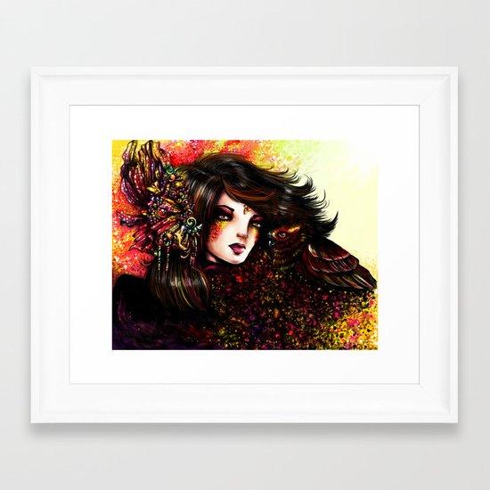 WILD WOMAN Framed Art Print