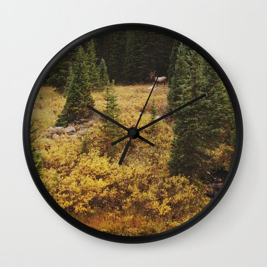 Rocky Mountain Creek Elk Wall Clock