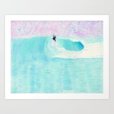 SURF AERIAL no. 1 | WATER COLOR Art Print