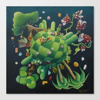The consoling planet Canvas Print