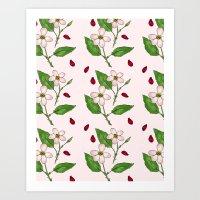 Prairie Roses Art Print