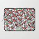 Xmas Floral Doodle Laptop Sleeve