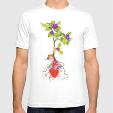 even though i buried my heart, my love has blossomed Mens Fitted Tee SMALL White