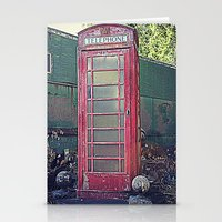 Old Telephone Booth Stationery Cards