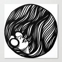 Circle Lady 2 Canvas Print