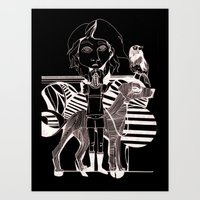 The Girl, Her Dog And A … Art Print