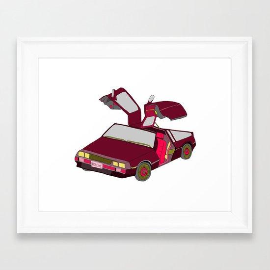 cool girls like flying cars Framed Art Print