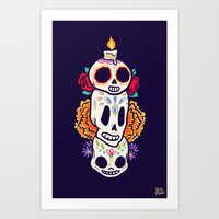 Caliveras Day Of The Dea… Art Print