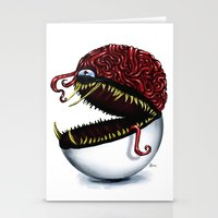 Evil pokeball  Stationery Cards