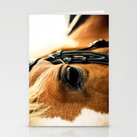 a horse's kind eyes. Stationery Cards