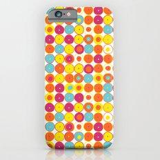 Funny Polkas-Yellow and orange iPhone 6s Slim Case