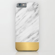 Carrara Italian Marble Holiday Gold Edition iPhone 6 Slim Case