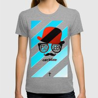 Jesus Geek Womens Fitted Tee Tri-Grey SMALL