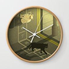 Cat Hopscotch  Wall Clock