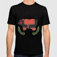 The Ethnic Bear Mens Fitted Tee Black SMALL