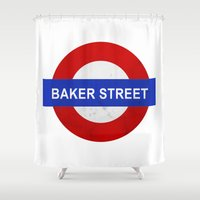 Sherlock Baker Street Print Shower Curtain