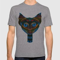 Black CAT Mens Fitted Tee Athletic Grey SMALL