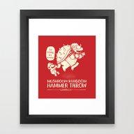 Hammer Throw Contest Framed Art Print