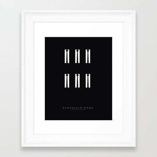 Minimal - Reservoir dogs Framed Art Print