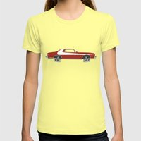 Starsky And Hutch Womens Fitted Tee Lemon SMALL