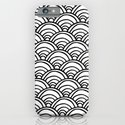 Waves All Over - Black and White iPhone & iPod Case