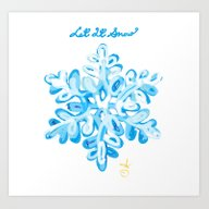 Let It Snow Snowflake Pa… Art Print