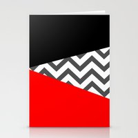 Color Blocked Chevron 10 Stationery Cards