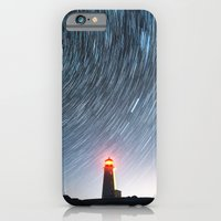 iPhone & iPod Case featuring Lighthouse in the Stars by Shaun Lowe